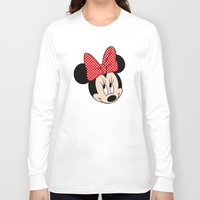minnie mouse Long Sleeve T-shirts featuring So cute Minnie Mouse by Yuliya L