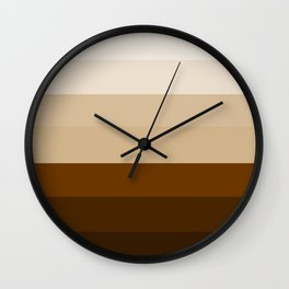 Coffee Liqueur and Cream Mix - Abstract Wall Clock