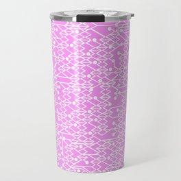 Microchip Pattern (Pink) Travel Mug
