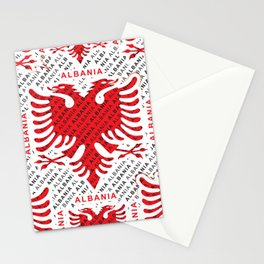 Albanian flag pattern 4 Stationery Cards