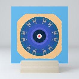 Soverignty & Innerstanding Evil Eye Protective Mandala #innerstanding Mini Art Print