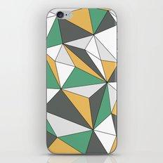 Geo - orange, green, gray and white. iPhone & iPod Skin