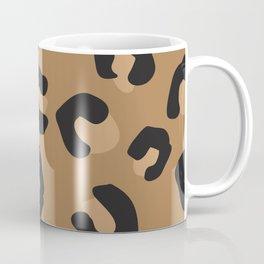 Tan and Black Large Leopard Print Coffee Mug