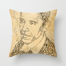 barac obama in the font of times Throw Pillow