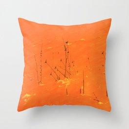 Winter Grasses Throw Pillow