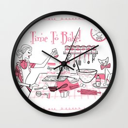 Time To Bake Wall Clock
