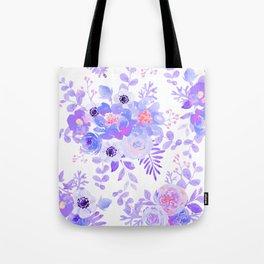 Lilac lavender violet pink watercolor elegant floral Tote Bag
