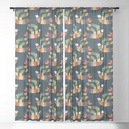 Native Bird Sheer Curtain