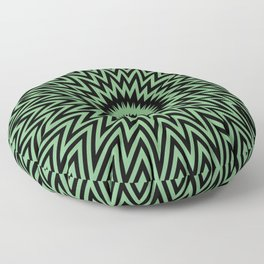Abstract painting by Leslie harl Ow Floor Pillow