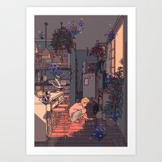 the witch's son Art Print