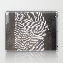 Black and White  Lines Laptop & iPad Skin