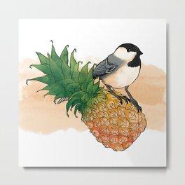 pineapple chickadee! Metal Print