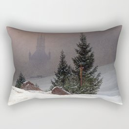 Caspar David Friedrich Winter Landscape Rectangular Pillow