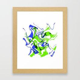"""AGILITY – 20"""" x 20"""" (50 x 50 cm), abstract art Framed Art Print"""