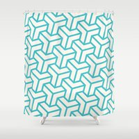 diamond Shower Curtains featuring Diamond by Marta Li