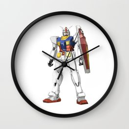 White Mobile Suit Wall Clock