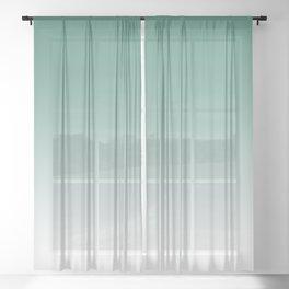 Ombre Viridian Sea Green Sheer Curtain
