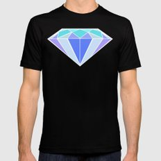 Blue Ice | Diamond Black Mens Fitted Tee MEDIUM