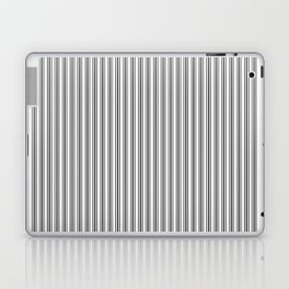 Classic Small Black Tarp Black French Mattress Ticking Double Stripes Laptop & iPad Skin