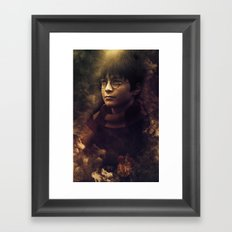 Fire magician Framed Art Print