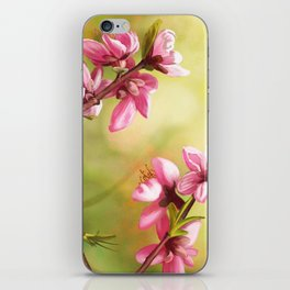 Spring and pink flowers on a branch iPhone Skin