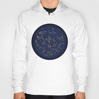 constellations Hoodies featuring Constellations by Cina Catteau