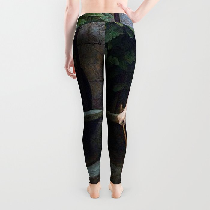 TRUTH COMING OUT OF HER WELL TO SHAME MANKIND - JEAN-LEON GEROME Leggings