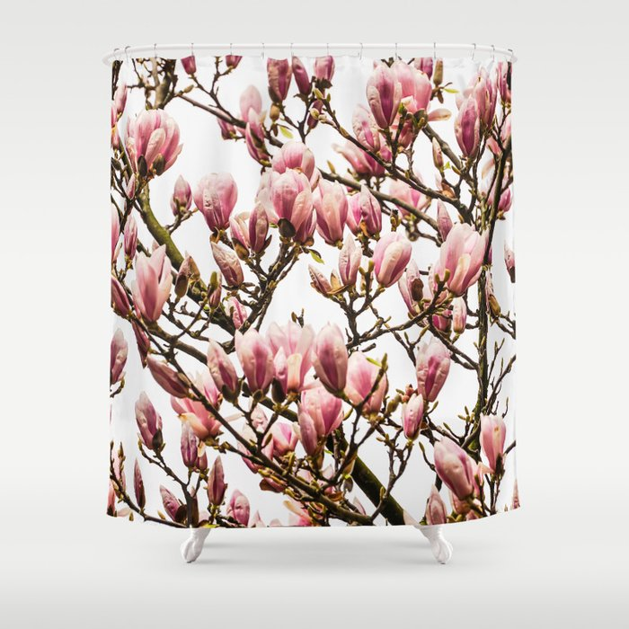 Tulip Magnolia Shower Curtain
