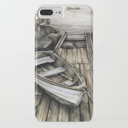 Old Boat on the Dock iPhone Case