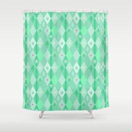 Green Lily Bear Shower Curtain