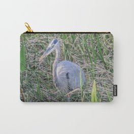 Hello Blue Heron Carry-All Pouch