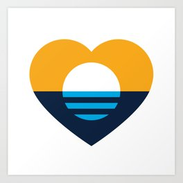Heart of MKE - People's Flag of Milwaukee Art Print