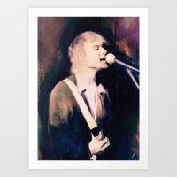 kurt rahn Art Prints featuring Kurt by Chad Lindall