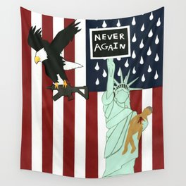 Never Again Wall Tapestry