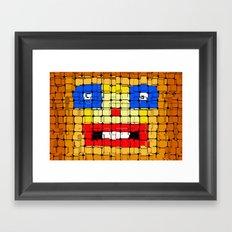 Pixelgesicht. Framed Art Print