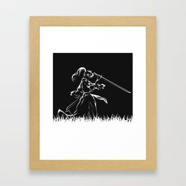 Samurai Kenshin Himura Framed Art Print