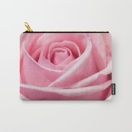 PINK Closeup of a Rose Carry-All Pouch