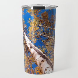 Aspen Trees Against The Sky In Crested Butte, Colorado Travel Mug