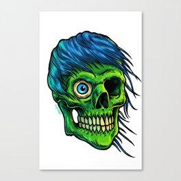Green Zombie Canvas Print