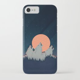 Howling Moon iPhone Case
