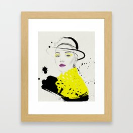 Yellow and Black Framed Art Print