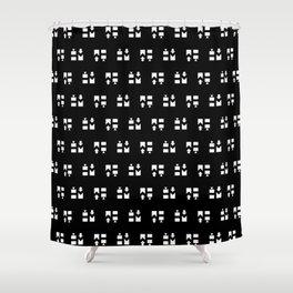 Hella Meta Minis Mono Shower Curtain