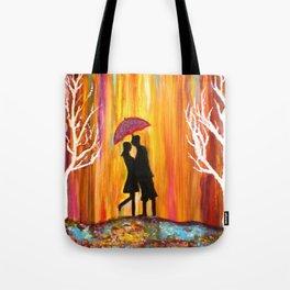 Romance in the Rain I romantic gift art Tote Bag
