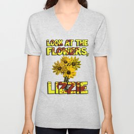 Look At The Flowers, Lizzie#3 Unisex V-Neck