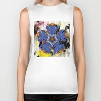 baroque Biker Tanks featuring Baroque Flower by FakeFred