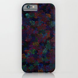 Cubism colorful flowers iPhone Case