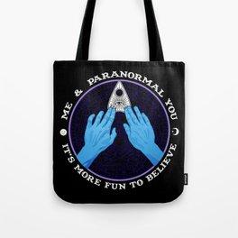 Me & Paranormal You - James Roper Design - Ouija (white lettering) Tote Bag