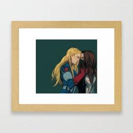 Cap&WinterSoldier(female Framed Art Print