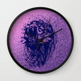 Tiger Purple Wall Clock
