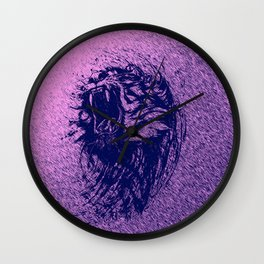 Tiger Purple Wall Clock